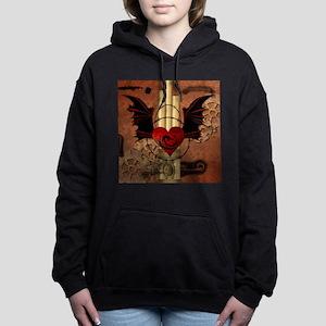 Heart with dragon Women's Hooded Sweatshirt
