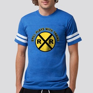 Still Plays With Trains Mens Football Shirt