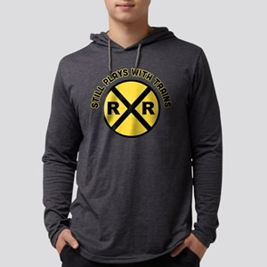 Still Plays With Trains Mens Hooded Shirt