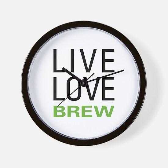 Live Love Brew Wall Clock