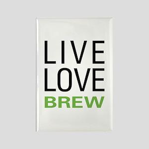 Live Love Brew Rectangle Magnet