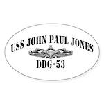USS JOHN PAUL JONES Sticker (Oval)