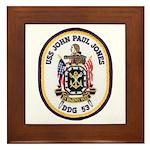 USS JOHN PAUL JONES Framed Tile