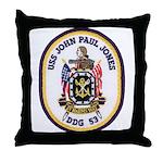 USS JOHN PAUL JONES Throw Pillow