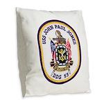 USS JOHN PAUL JONES Burlap Throw Pillow