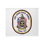 USS JOHN PAUL JONES Throw Blanket