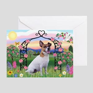 Rose Arbor & Jack Russell Terrier Greeting Card