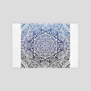 Blue Mnadala Pattern 4' x 6' Rug