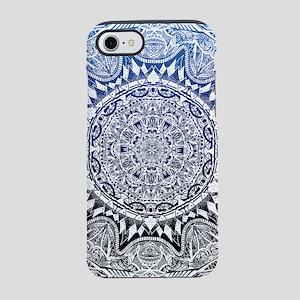 Blue Mnadala Pattern iPhone 7 Tough Case