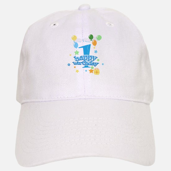 1st birthday blue Baseball Baseball Cap