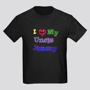I LOVE MY UNCLE Kids Dark T-Shirt