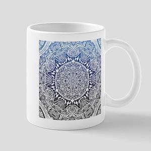 Blue Mnadala Pattern Mugs