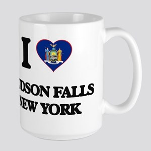 I love Hudson Falls New York Mugs