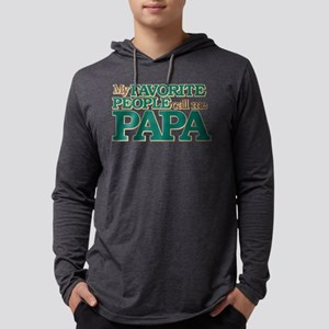 My Favorite People Call Me Papa Mens Hooded Shirt