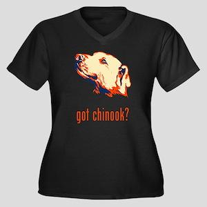 Chinook Women's Plus Size V-Neck Dark T-Shirt