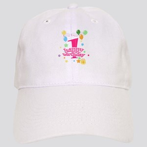 1st birthday pink Cap