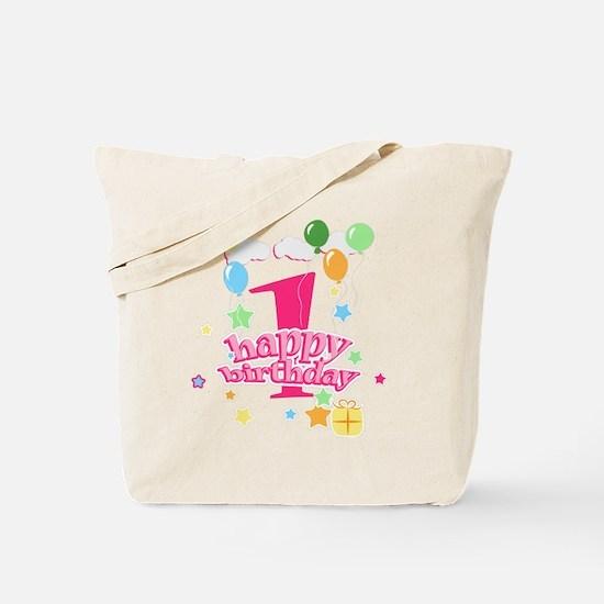 1st birthday pink Tote Bag