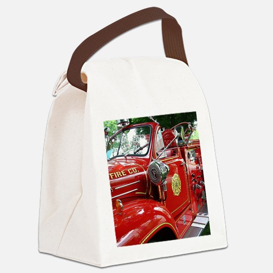 red fire engine 1 Canvas Lunch Bag