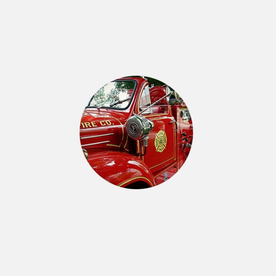red fire engine 1 Mini Button