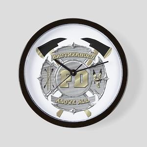 BrotherHood fire service 1 Wall Clock