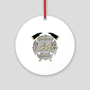 BrotherHood fire service 1 Ornament (Round)