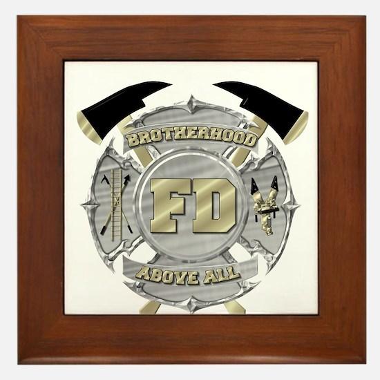 BrotherHood fire service 1 Framed Tile