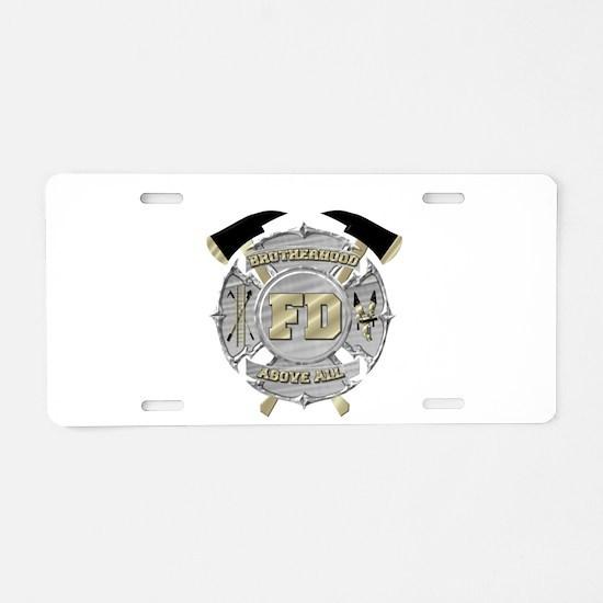 BrotherHood fire service 1 Aluminum License Plate