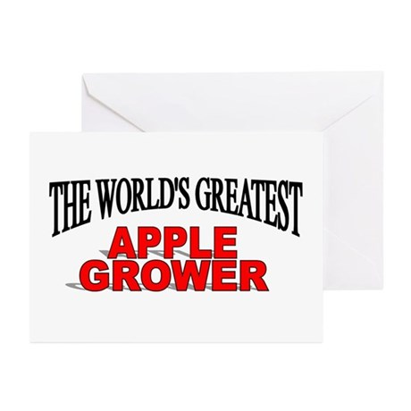 """The World's Greatest Apple Grower"" Greeting Cards"