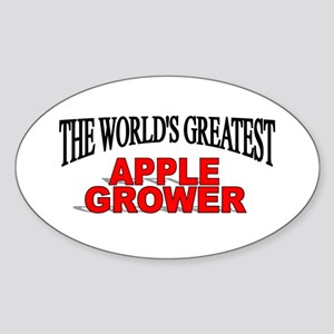 """The World's Greatest Apple Grower"" Oval Sticker"