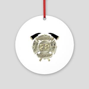 BrotherHood fire service 2 Ornament (Round)