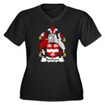 Bonham Family Crest Women's Plus Size V-Neck Dark