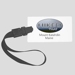 Hiking Mount Katahdin Large Luggage Tag