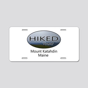 Hiking Mount Katahdin Aluminum License Plate