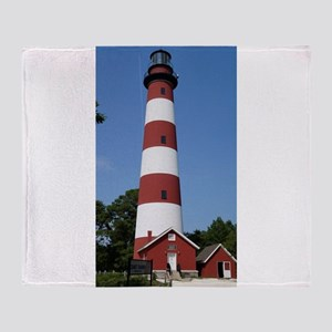 Asateague lighthouse (bright) Throw Blanket