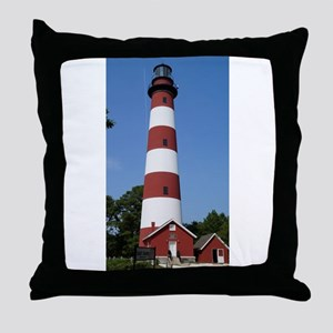 Asateague lighthouse (bright) Throw Pillow