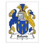 Boland Family Crest Small Poster