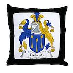 Boland Family Crest Throw Pillow