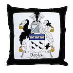Bodley Family Crest Throw Pillow
