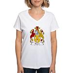Bloore Family Crest Women's V-Neck T-Shirt
