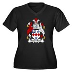 Bloomfield Family Crest Women's Plus Size V-Neck D
