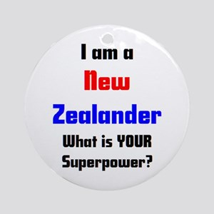 i am new zealander Ornament (Round)