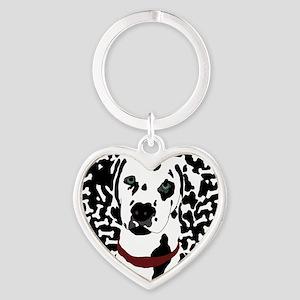 Dalmatian Heart Keychain