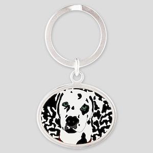 Dalmatian Oval Keychain