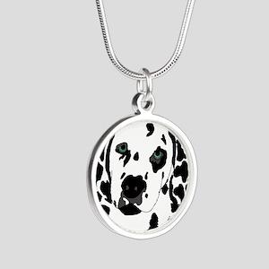 Dalmatian Silver Round Necklace
