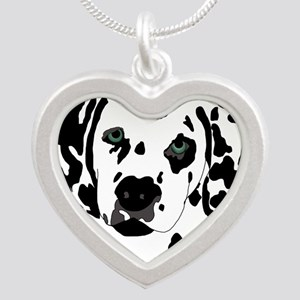 Dalmatian Silver Heart Necklace