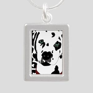 Dalmatian Silver Portrait Necklace