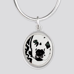 Dalmatian Silver Oval Necklace