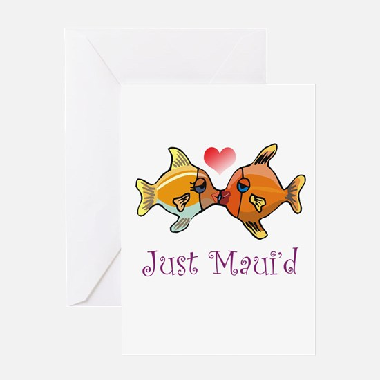 Just Maui'd Tropical Fish Log Greeting Cards (Pack