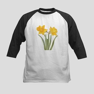Vintage Daffodil Flower, Besler Baseball Jersey