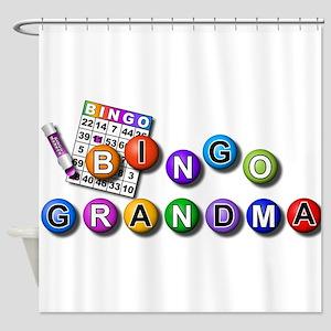 Bingo playing grandma Shower Curtain